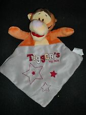doudou plat Tigrou Tigger's orange gris étoile rouge DISNEY ami Winnie