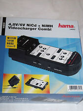 Hama 46327 4.8v 6v NiCd NiMH Video Charger Combi Videocharger Discharger Battery