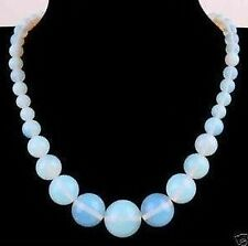 6-14mm Sri Lanka Moonstone Gemstone Beads Necklace 18''