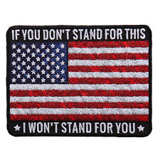 American USA FLAG Stand For This  Patriotic Usa Flag  PATCH
