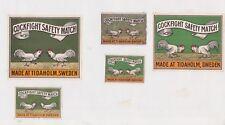 Ancienne étiquette  Allumettes Suède BN42074 Combat de Coq