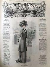 MODE ILLUSTREE SEWING PATTERN March 14,1909 - Princess dress, Elegant dress...