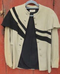 antique suit dress fitted asymmetrical film noir 1940s glam wool vintage ww2
