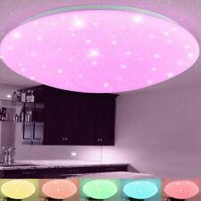 LED Deckenleuchte RGB Sternenhimmel Deckenlampe Dimmbar mit Fernbedienung 48W