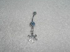 Winter Snowflake Charm Belly Navel Ring Body Jewelry