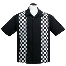 Steady Clothing Rockabilly Vintage Bowling Shirt Hemd - Checkered Mini