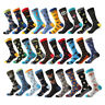 Mens Combed Cotton Socks Novelty Animal Alien Chili Funny Big Size Dress Socks