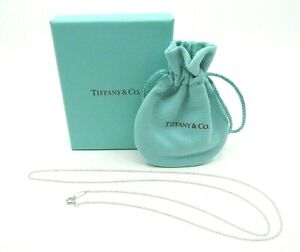 AUTHENTIC TIFFANY & CO 925 STERLING SILVER CHAIN NECKLACE 24 INCHES LINKS SMALL