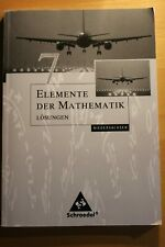 Elemente der Mathematik 7 (Niedersachsen) - Lösungen  Schroedel Verlag