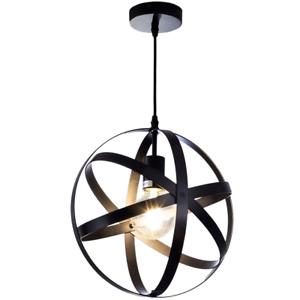 Giggi Black Industrial Spherical Ceiling Light | Ceiling Light Fitting Pendant