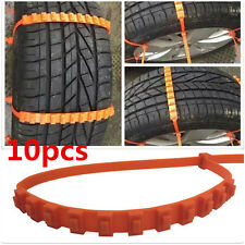 Universal 10pc Car Truck Snow Anti-skid Wheel Tire Chains Fit Tyre Width 175-295