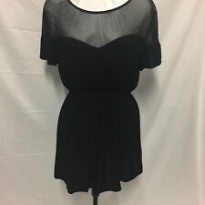 Boohoo Top / Short Dress. Excellent Condition. Black Size 12. Beautiful Piece