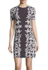 NWT TORY BURCH SHORT-SLEEVE JEWEL-NECK PONTE DRESS XL