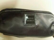Herve Leger Black Clutch Wristlet Makeup Perfume Bag Pouch #88ii