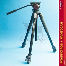 Manfrotto MT055XPRO3 Aluminum Tripod with MVH500AH Fluid Video Head