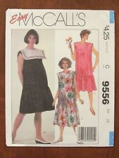 McCALL'S PATTERN - 9556 LADIES MATERNITY DRESS SAILOR COLLAR SIZE 14 UNCUT