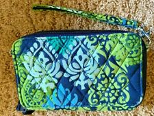 Vera Bradley Clutch Wallet RFID Blue & Green