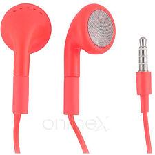 Auricular con micrófono Universal para iPhone 4 4S Rojo a1151