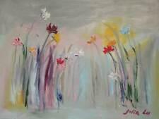 "Original Oil Painting  Botanic  Garden Impression  18x24""      Julia Lu"
