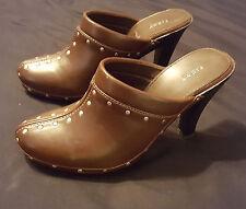 NEW Brown Fioni dress WW Jaeger heels size 9w style # 44976