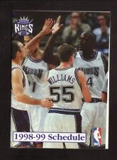 Sacramento Kings--Chris Webber--Jayson Williams--1998-99 Pocket Schedule--KMYC