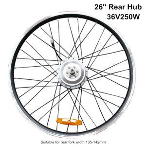 E bike 36V 250W 26 Inch Rear Wheel Brushless Gear Hub Motor Rim Road Bike Motor