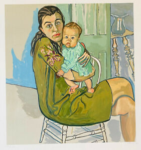 Alice Neel Mother and Child 1982 Signed Original Lithograph Limited Edition