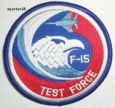 US.Air Force `F-15 TEST FORCE` Aircraft Cloth Badge / Patch (F15-8)