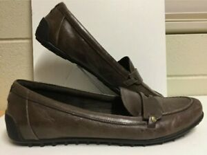Rockport Adiprene Adidas Womens Brown Leather Penny Loafers Shoes - size 10
