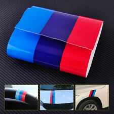 2M M-Colored Car Hood Vinyl Sticker Decal Stripe Fenders For BMW 3/5/7 Serie X1