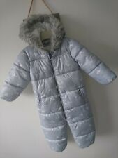 Next baby girl padded snowsuit 12-18 months great condition