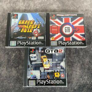 Grand Theft Auto + London & GTA 2 PS1 PlayStation 1 PAL Game Bundle Rockstar