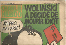 Charlie-Hebdo N° 455 ,1979,Wolinski veut mourir idiot. 20 pages.