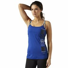 NEULES MILLS ACTIVCHILL TANK WITH BUILT IN PADDED SPORTS BRA Blau