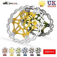 SNAIL Bicycle 160mm Floating Brake Rotor MTB Bike Disc Brake 6 Bolts Rotor UK
