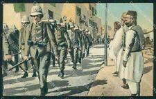 Militari Tripoli Italiana Africa Coloniale Granatieri cartolina XF6856