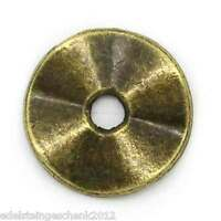 100 Bronze Rund Spacer Beads 10mmD.