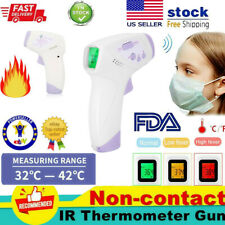 No-Touch Infrared Digital Forehead Thermometer Baby Adult Body Temperature Gun #