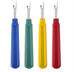 4 Stitch Ripper Plastic Handle Thread Seam Ripper Cutter Remover Sewing Craft L