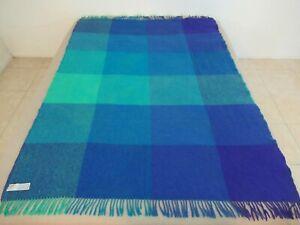 Vintage IKEA Scandinavian MCM Bauhaus Blanket Throw Shawl; 100% Virgin Wool