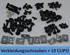 MEGA SET SCHWARZ - SATZ VERKLEIDUNGSSCHRAUBEN PEUGEOT SPEEDFIGHT 2 + 10 CLIPSE
