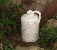 Primitive Antique Vtg Style Old Tyme White Acid JUG Stoneware GARDEN CROCK