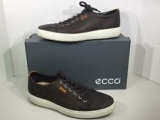 Ecco Soft 7 Men's Size 9-9.5 EU 43 Coffee Lace Up Sneakers Shoes ZI-1115