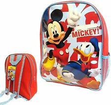 Disney Mickey Mouse Rucksack Backpack Back to School Bag