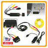 USB2.0 VHS To DVD Converter Audio Video Capture Kit Scart RCA Cable for Win10 US