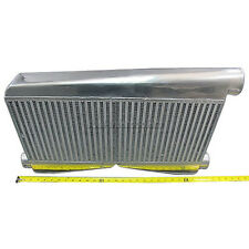 "CXRacing Universal 2-In-1-Out Twin Turbo Intercooler 27""X16.5""X3.5"" Big Core"