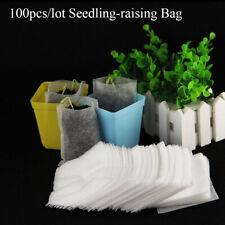 100pcs/lot Seedling-raising Bag Nursery Pot Flowers Pouch Planting Garden Supply