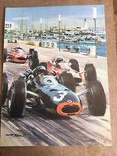 New listing Graham Hill In BRM Monaco 1960s Grand Prix Print By Michael Turner