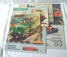 catalogues trains miniature HO MARKLIN