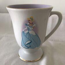 NWT Cinderella Disney Store Dream Is Wish Heart Makes Footed Mug Cup Coffee Tea